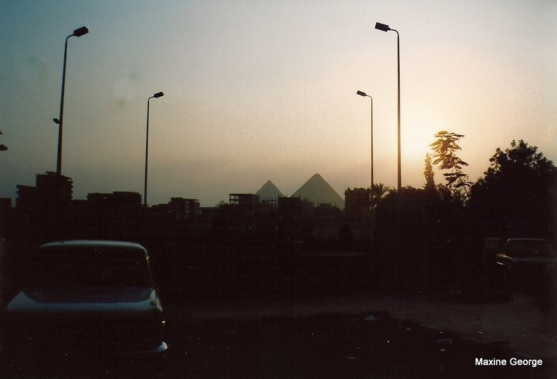pyramids, as viewed from Cairo