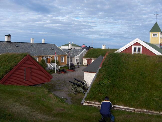 Grass rooftops at Vardo Fort Norway