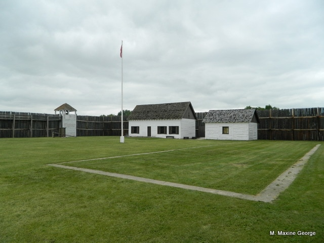 Fort Carleton as we see now. Two of the restored buildings today