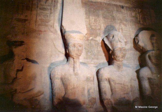Sanctuary with Rehorakhy, Ramses, Amun Ra the Sun God & Ptah, God of Darkness