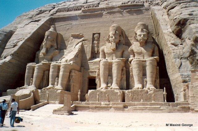 Statues of Ramses II Abu Simbel Egypt