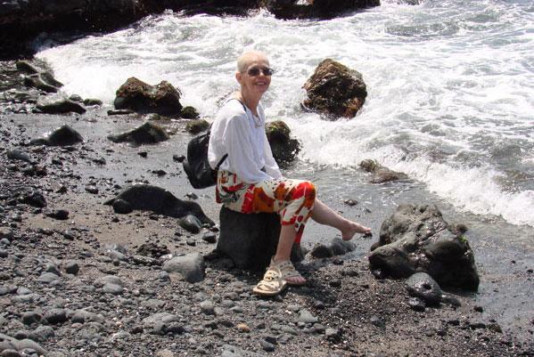 Cathy McDonald at Wailea Beach by the Wailea Beach Marriot Resort, Maui.