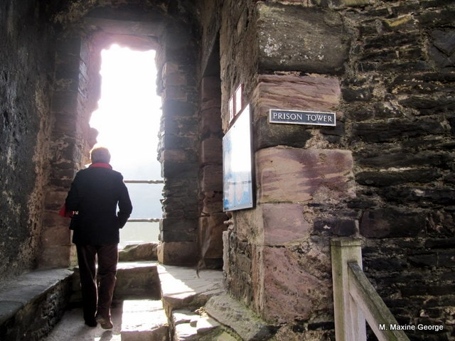 Entrance to the Prison Tower, Conwy Castle Wales