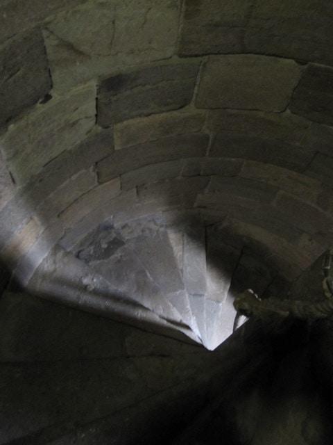Inside a tower stairs at Caernarfon Castle