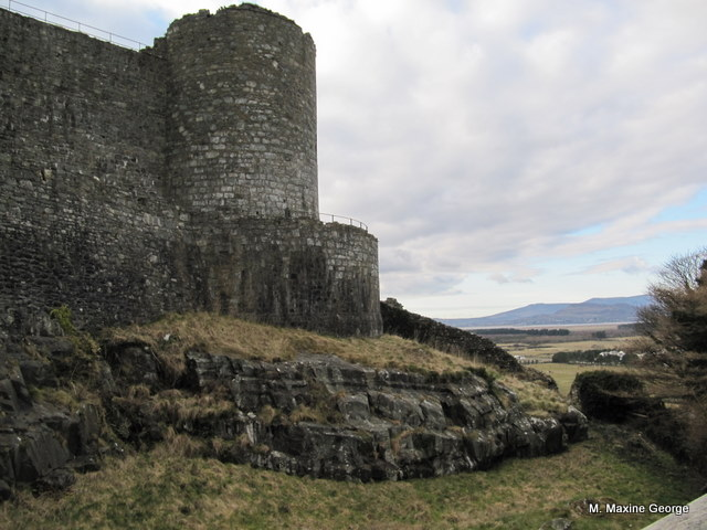 Outside north-east tower of Harlech Castle