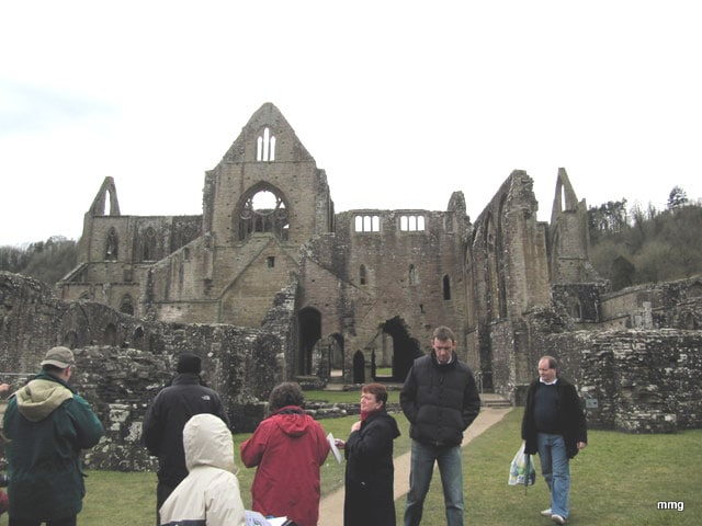 Tintern Abbey in the Wye Valley, Monmouthshire, Wales