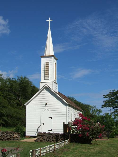 St. Joseph's Church, built in 1876 by Father Damien. Molokai Hawaii