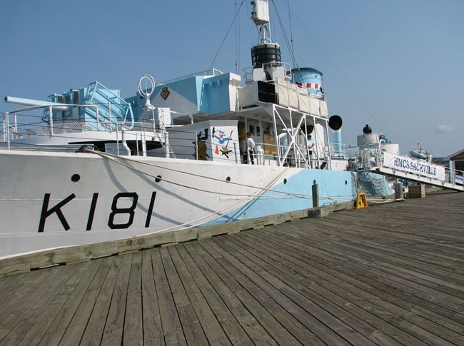 HMCS Sackville berthed near the Maritime Museum of the Atlantic, Halifax. Picture by Margaret Deefholts