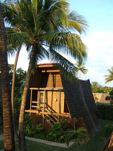 A bungalow at the Hotel Molokai, Hawaii