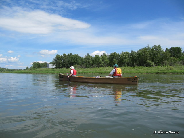 Canoeing on the South Saskatchewan River and a visit to Batoche, scene of the last battle of the Resistance of 1885