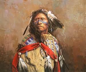 Louis Rîel in traditional Metis dress