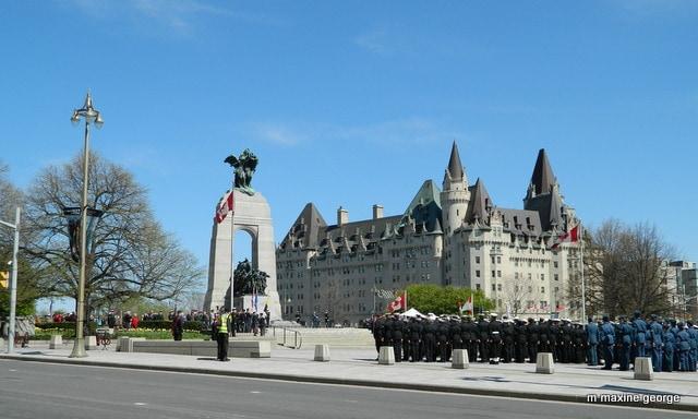 Tulip Festival, Ottawa Cenotaph Chateau Laurier