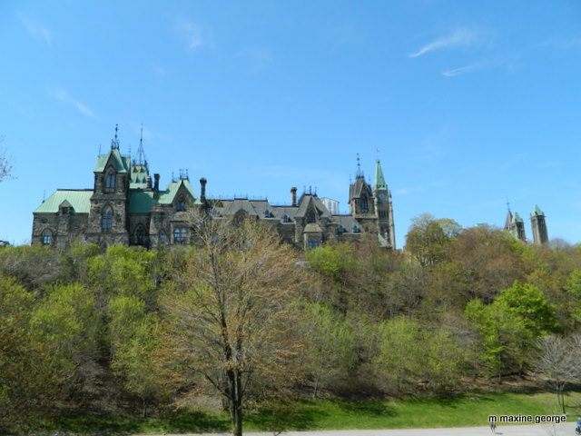 Turrets and towers on parliament hill buildings