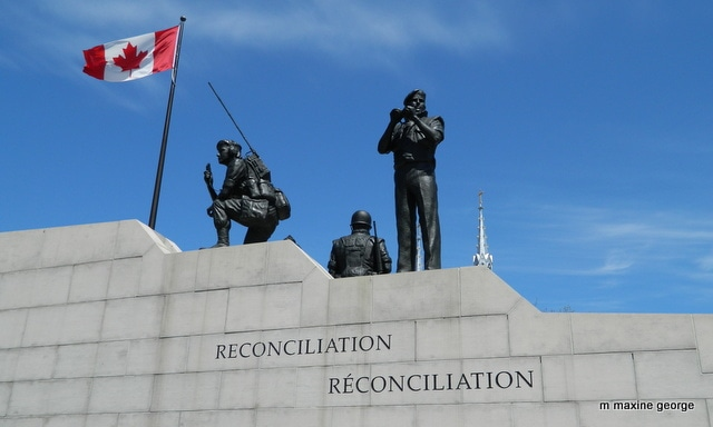 The Peacekeepers Monument in Ottawa