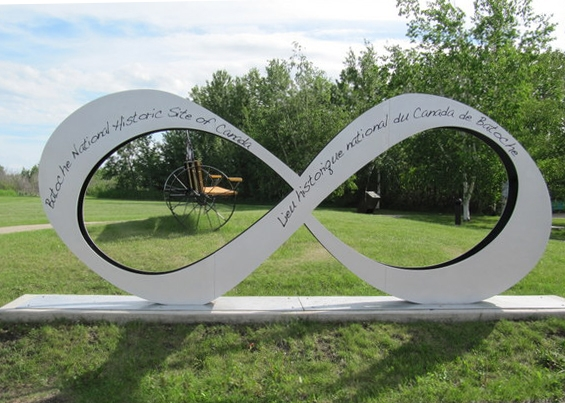Sign at the Batoche National Historic Site of Canada