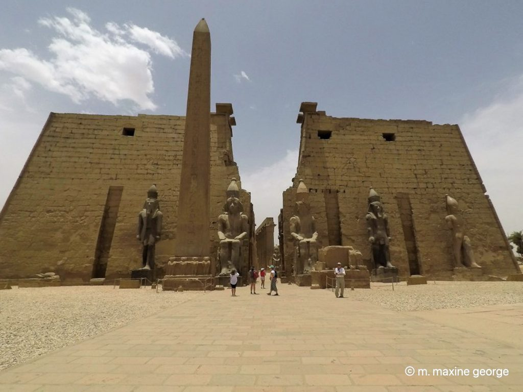 Luxor Temple central approach