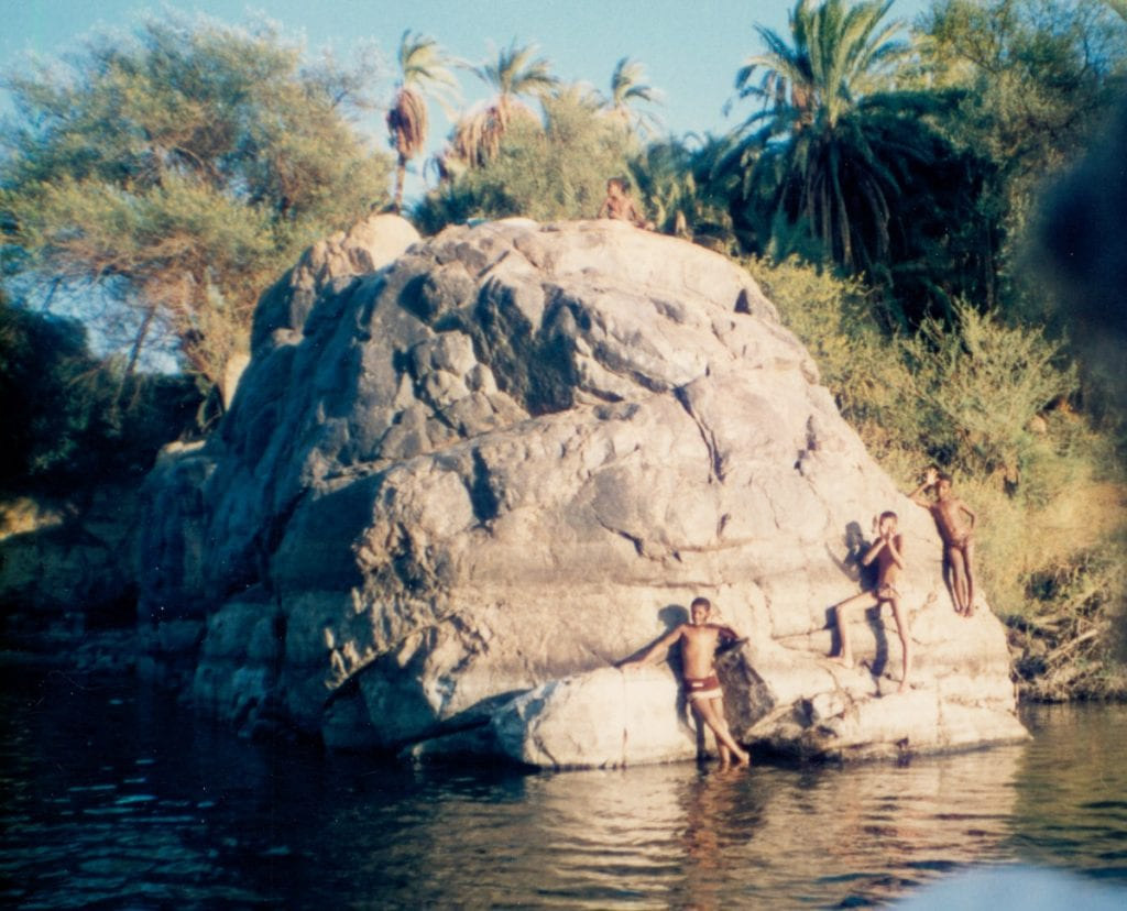 Swimming in the Nile in Aswan Egypt