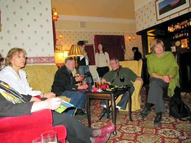A gathering of Canadians in Dolserau Hall, Dolgellau. Photo by M. Maxine George