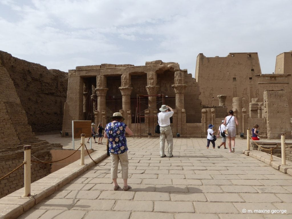 Marion George at the Temple of Edfu