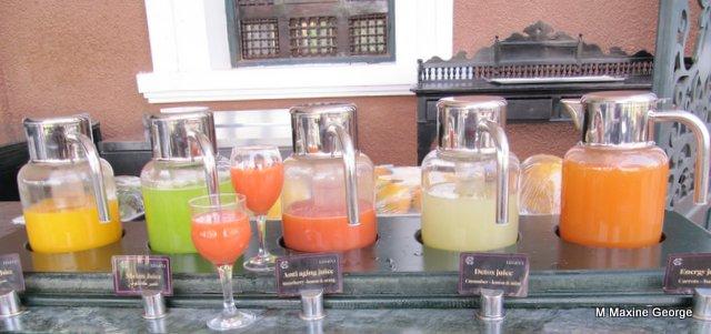 The juice bar at the Old Cataract Hotel, Aswan