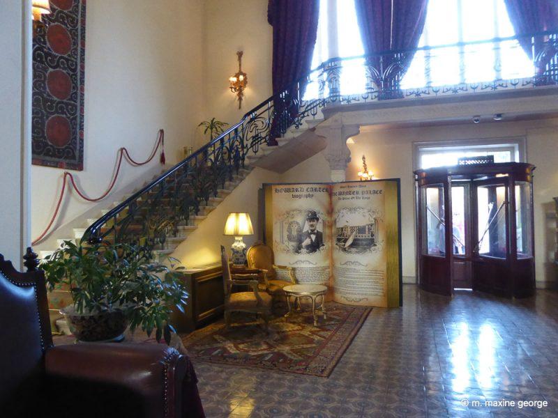 Notice the hotel bulletin board, Winter Palace, Luxor