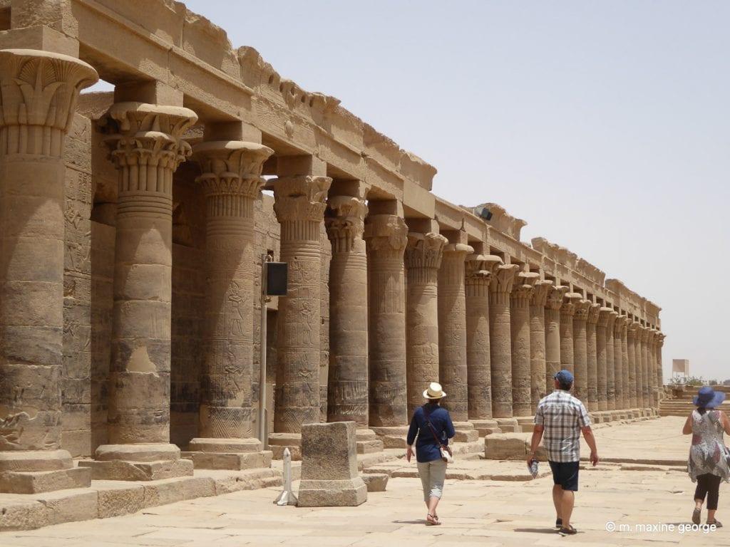 Columns at Isle of Philae Temple Isis