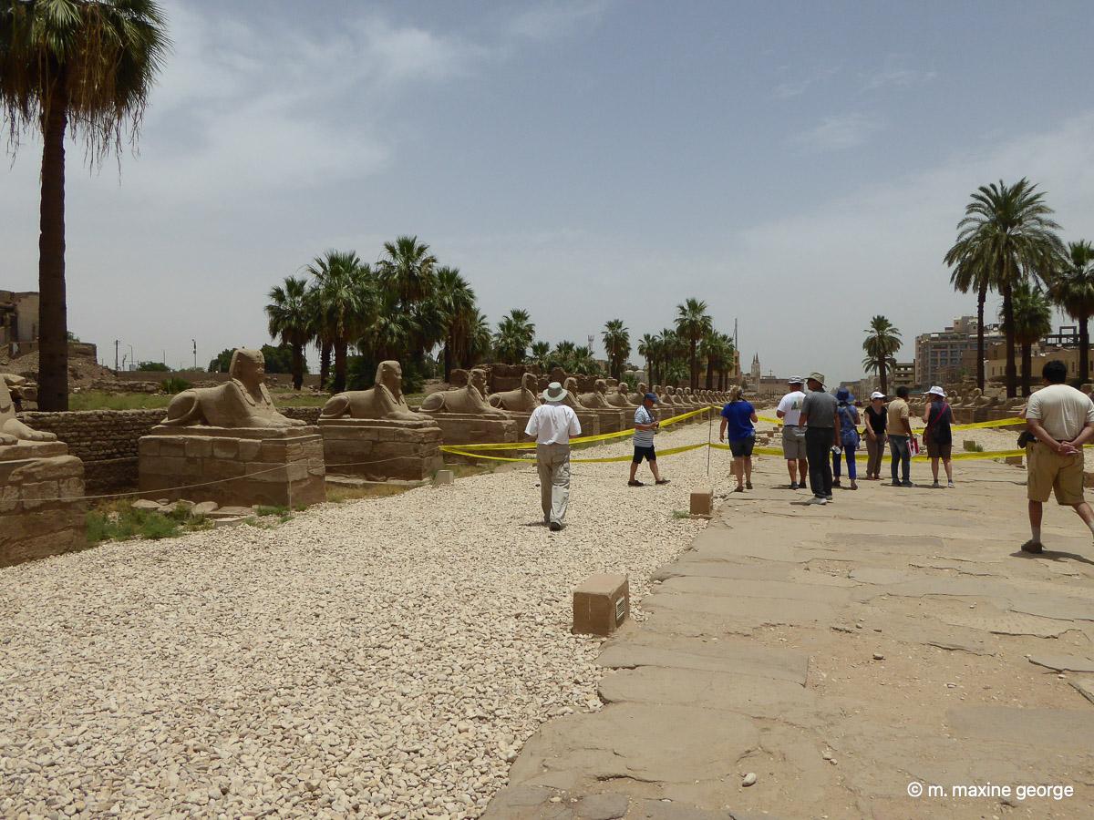 Karnak Temple Sphinx avenue of Sphinx