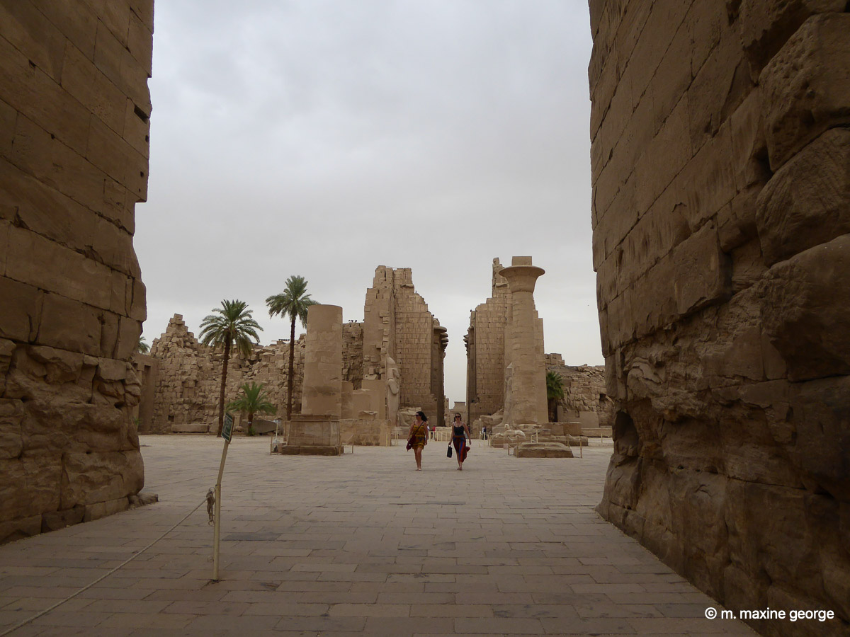 Entrance to Karnak Temple Sphinx