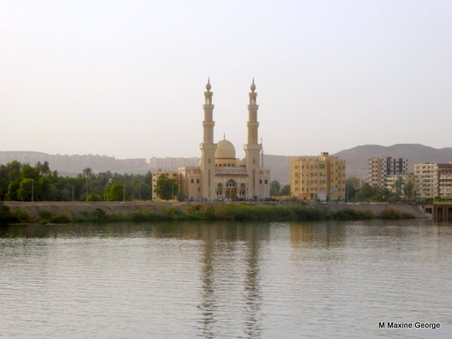 Mosque on banks of the Nile