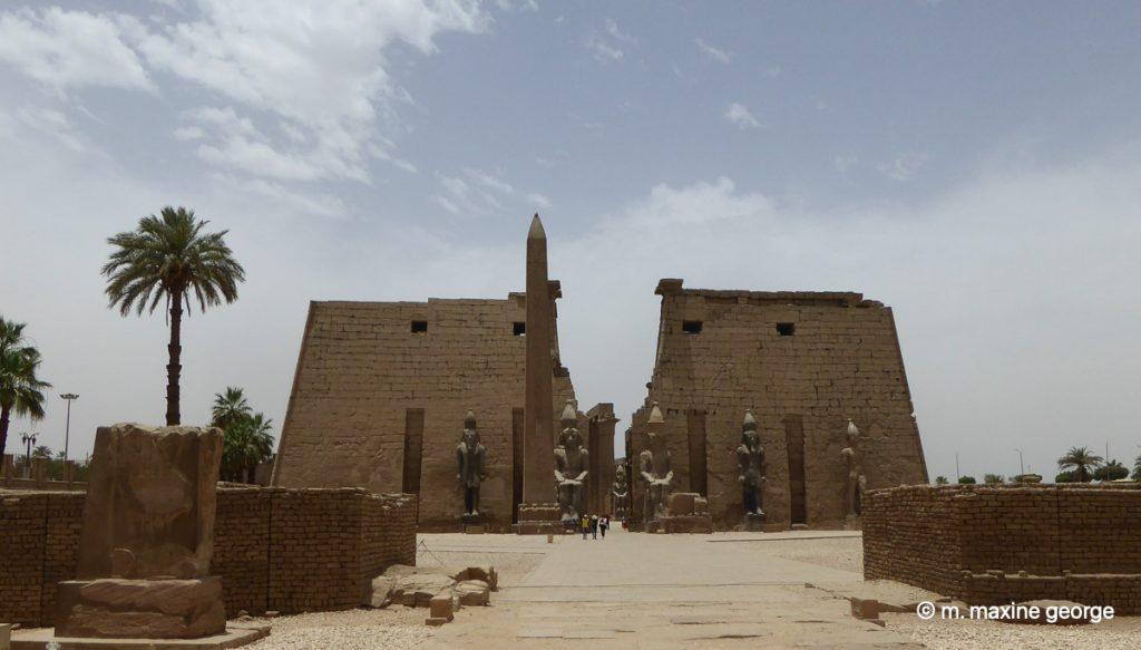 The Obelisk and the statues of Ramses Luxor Temple