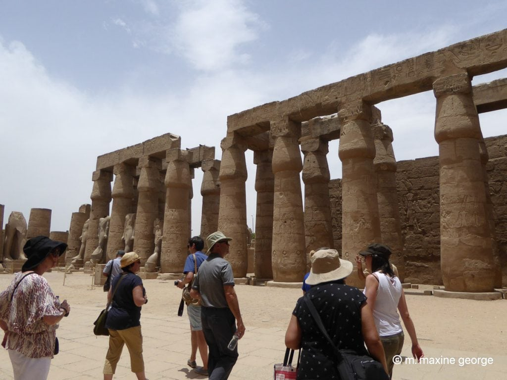 A colonnade in Luxor Temple