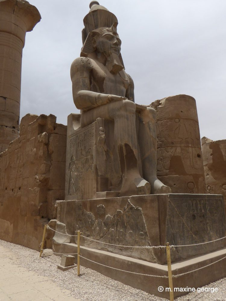 The statue thought to be King Tutankhamen, Luxor