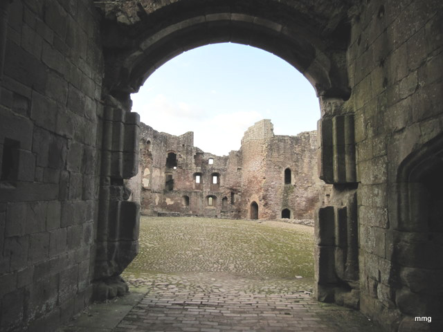 Raglan castle wales