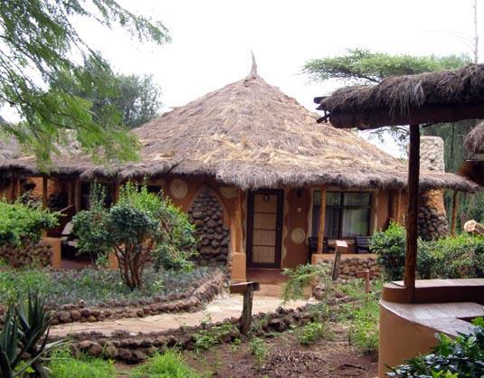 Accommodation at the Amboseli Sopa Lodge, Kenya