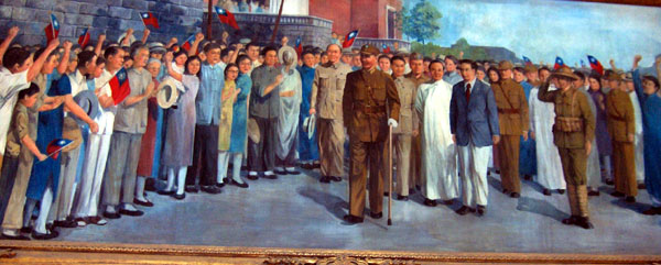 Painting of celebration of victory in Sino-Japanese War