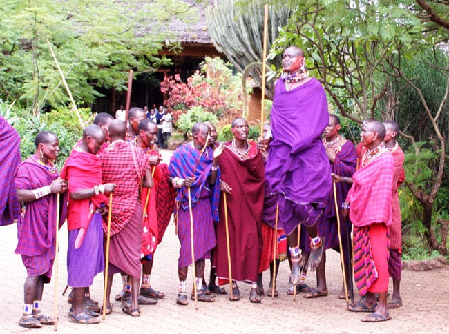 Masai Welcoming Ceremony in the Amboseli, Kenya Photo by Robert Scheer