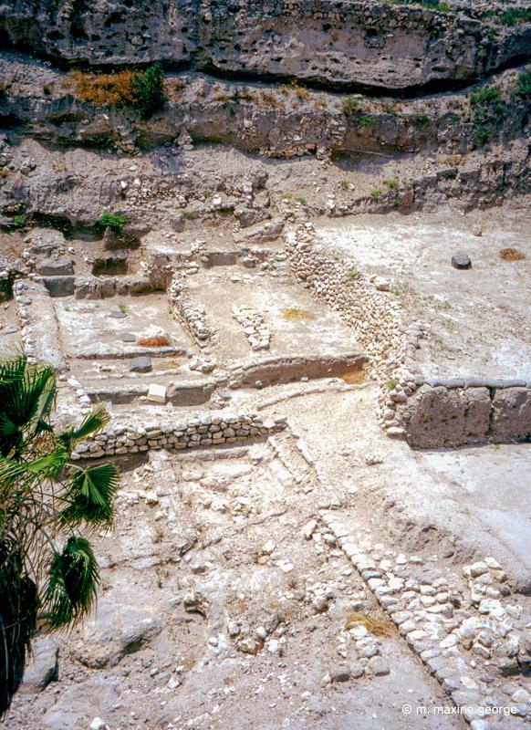 megiddo, israel, down inside