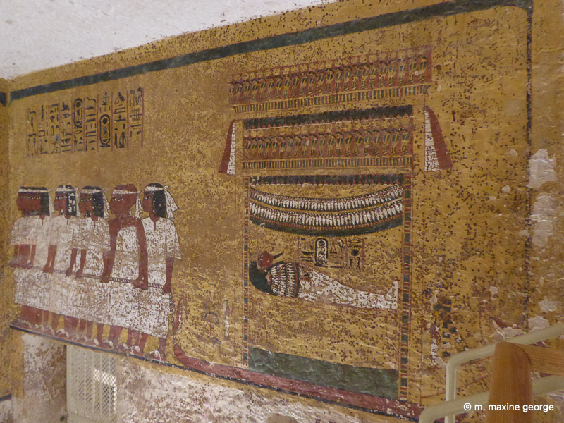 Walls of King Tut's Tomb, Valley of the Kings