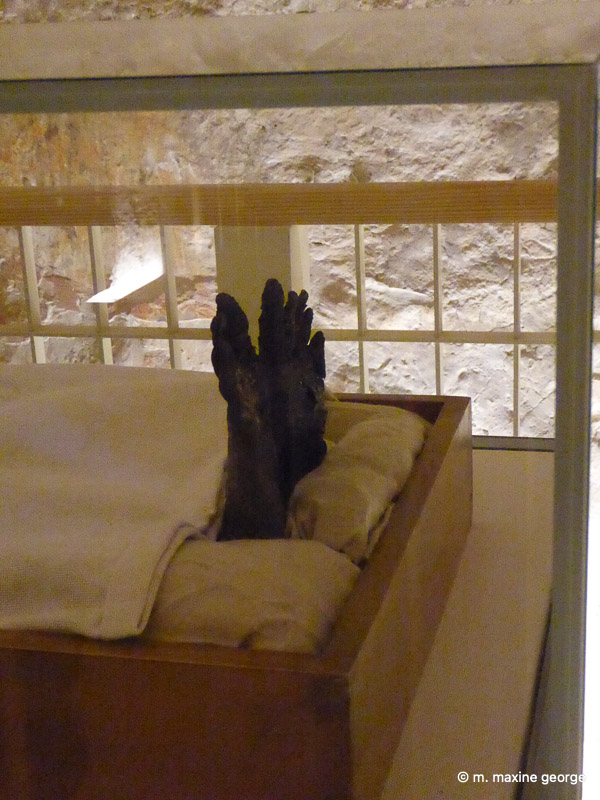 The feet of the Pharaoh, King Tut, Valley of the Kings