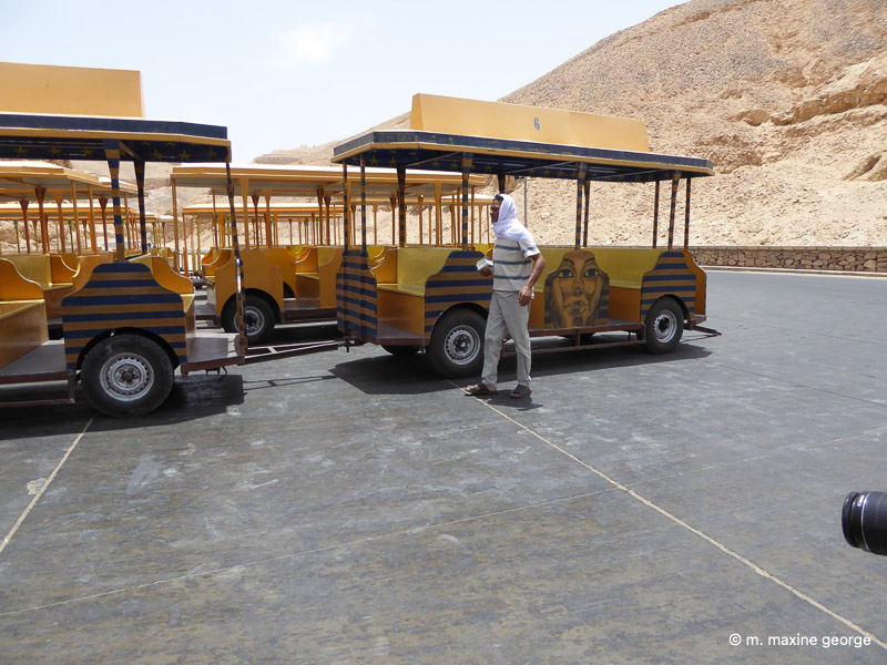Trains to take us into the valley of the kings, egypt