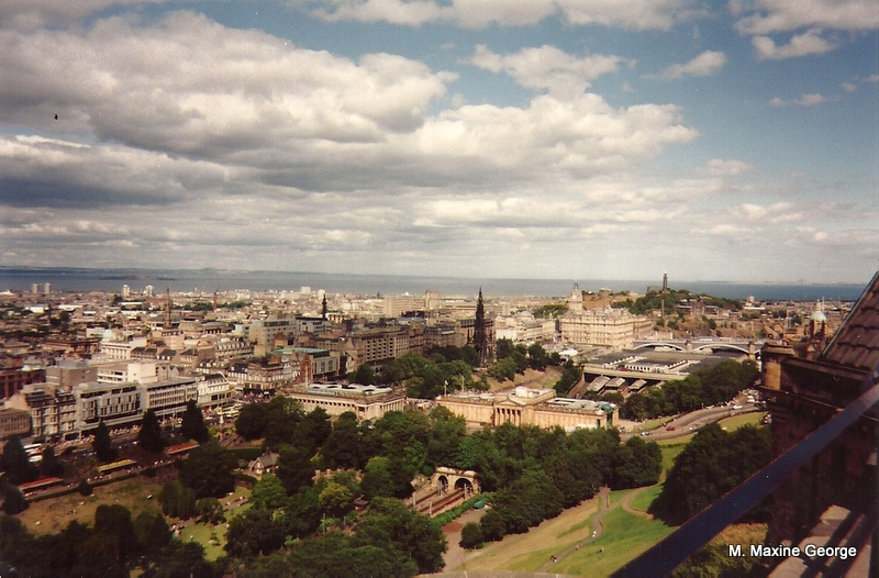 view of Edinburgh from the Castle's parapet