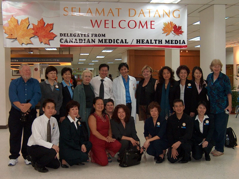 A Malaysian Welcome by Doctors and Administration at the Hospital Lam Wah EE, Penang, Malaysia