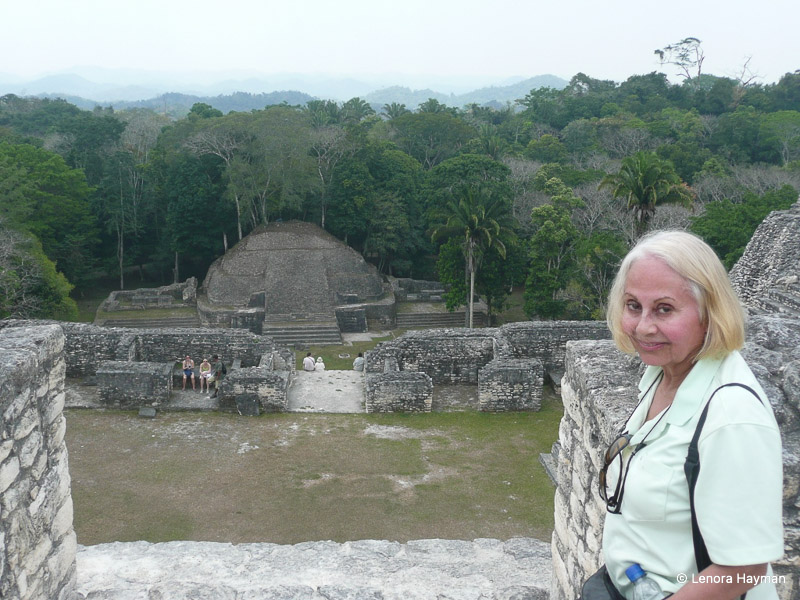 Caracol site viewed from Caana - largest Mayan Temple in Belize