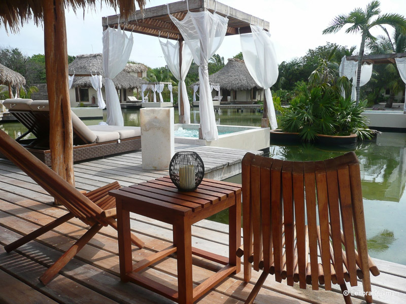 Man-made salt lake at El Secreto Resort, Ambergris Caye, Belize