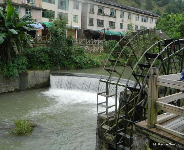 Visiting a Tulou in Yongding China water mill