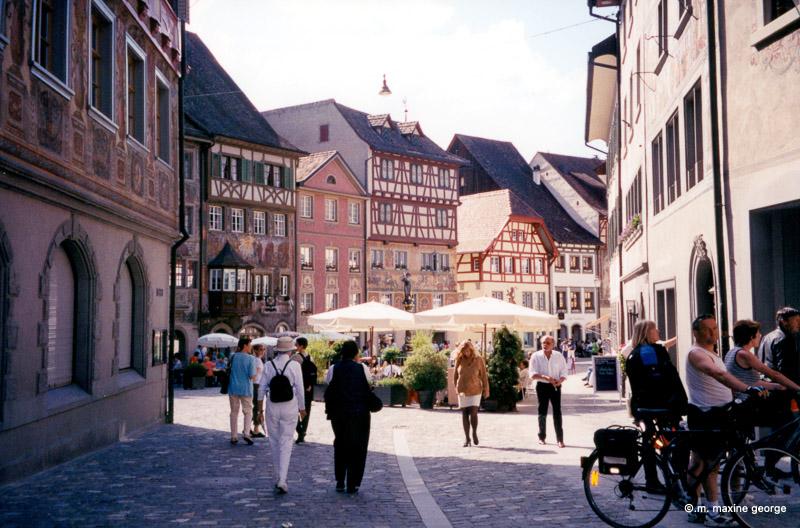 The town square of Stein am Rhein
