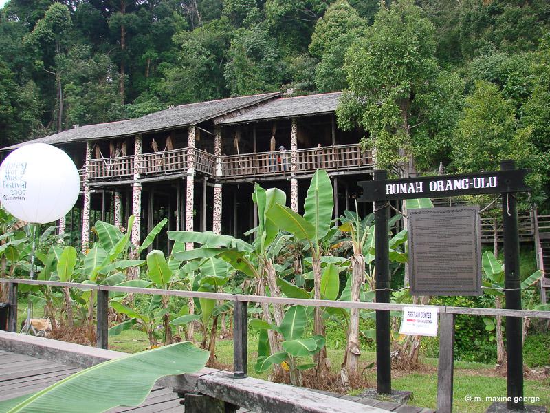 Rumah Oran-ulu building at the world music festival in Borneo Malaysia