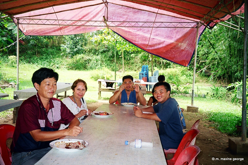 White Water Rafting Borneo Malaysia Lunch Time