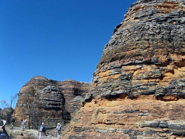 """Sandstone """"bee hives"""" at the Bungle Bungle Range"""