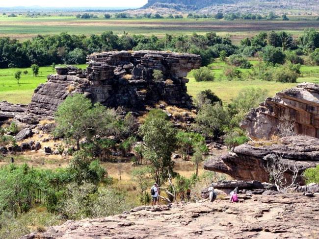 View of wetlands from Ubirr Rock, Kakadu National Park, Australia.